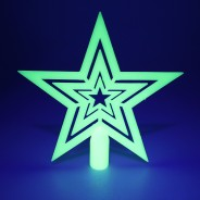 Glow in the Dark Tree Topper Star 3
