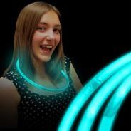 Blue glow necklaces