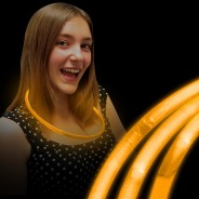 Glow Necklaces 9 Orange glow necklaces