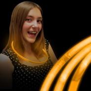 Wholesale Glow Necklaces 5 Orange Glow Necklaces