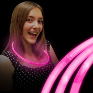 Wholesale Glow Necklaces 8 Pink Glow Necklaces
