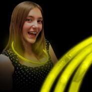 Wholesale Glow Necklaces 4 Yellow Glow Necklaces