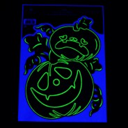 Glow Pumpkin Window Stickers 4