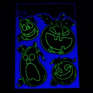 Glow Pumpkin Window Stickers 5