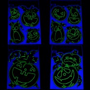 Glow Pumpkin Window Stickers 1