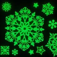 Glow Snowflake Window Stickers 1