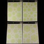 Glow Snowflake Window Stickers 3