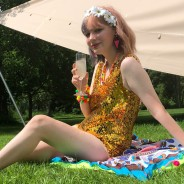 Gold Sequin Playsuit 2
