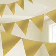 Metallic Paper Bunting 3 Gold