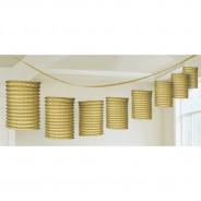 Metallic Paper Lantern Garlands 2 Gold