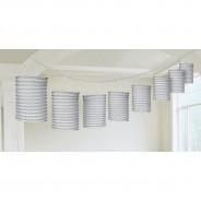 Metallic Paper Lantern Garlands 3 Silver
