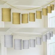 Metallic Paper Lantern Garlands 1