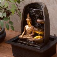 Golden Buddha Water Fountain 2