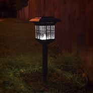 Solar Garden Lantern - Hang, Stand or Fix 2 Fixed/Ground Stake
