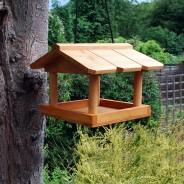 Hanging Wooden Bird Table 1
