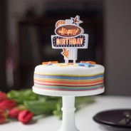 Happy Birthday Flashing Cake Topper 2