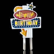 Happy Birthday Flashing Cake Topper 6