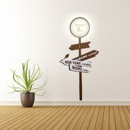 Home Sign Wall Light with Sticker 1