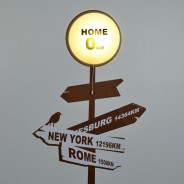 Home Sign Wall Light with Sticker 2