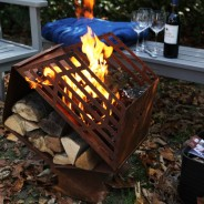 Honeycomb Fireplace with Woodstore FF143 1