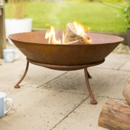 Ipata Oxidised Steel Fire Pit with Stand 2