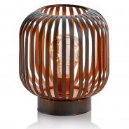 B/O Black Iron LED Lantern 4 Cylinder