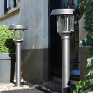 Intelligent Solar Pollux Stainless Steel Post Light 2