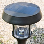Intelligent Solar Pollux Stainless Steel Post Light 4