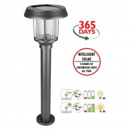 Intelligent Solar Pollux Stainless Steel Post Light 3