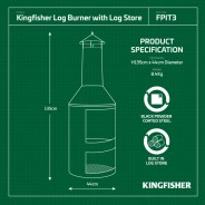 Kingfisher Log Burner 3