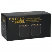 Black & Gold 110ml Coffee Cups x 2 5