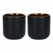 Black & Gold 110ml Coffee Cups x 2 4