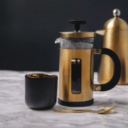 Black & Gold 110ml Coffee Cups x 2 3