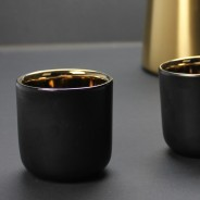 Black & Gold 110ml Coffee Cups x 2 2