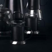 La Cafetiere Edited Set of 2 Glass Cups Gun Metal Grey 2