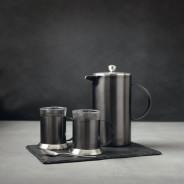 La Cafetiere Edited Set of 2 Glass Cups Gun Metal Grey 4