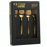 4 x Brushed Gold Tea Spoons 3