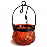 Indian Arts Moroccan Hanging Lantern 3 Amber