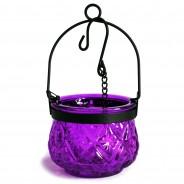 Indian Arts Moroccan Hanging Lantern 6 Lavender