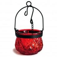 Indian Arts Moroccan Hanging Lantern 8 Red