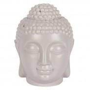 Large Grey Buddha Head Oil Burner 20cm 2