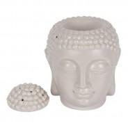 Large Grey Buddha Head Oil Burner 20cm 4