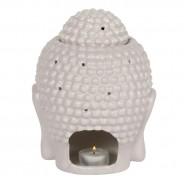 Large Grey Buddha Head Oil Burner 20cm 5