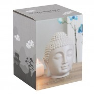 Large Grey Buddha Head Oil Burner 20cm 6