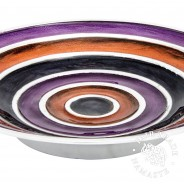 Large Recycled Aluminium Striped Bowl 2