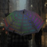 Light Up Starry Umbrella - Multi 1 Colour change mode