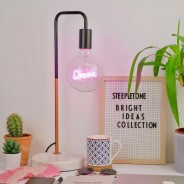 Copper Desk Lamp with Marble Stone Base 4 Dream Bulb not included