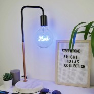 Copper Desk Lamp with Marble Stone Base 1 Home Bulb not included