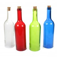 LED Glass Bottle With Stars 6