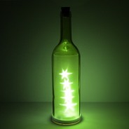 LED Glass Bottle With Stars 4